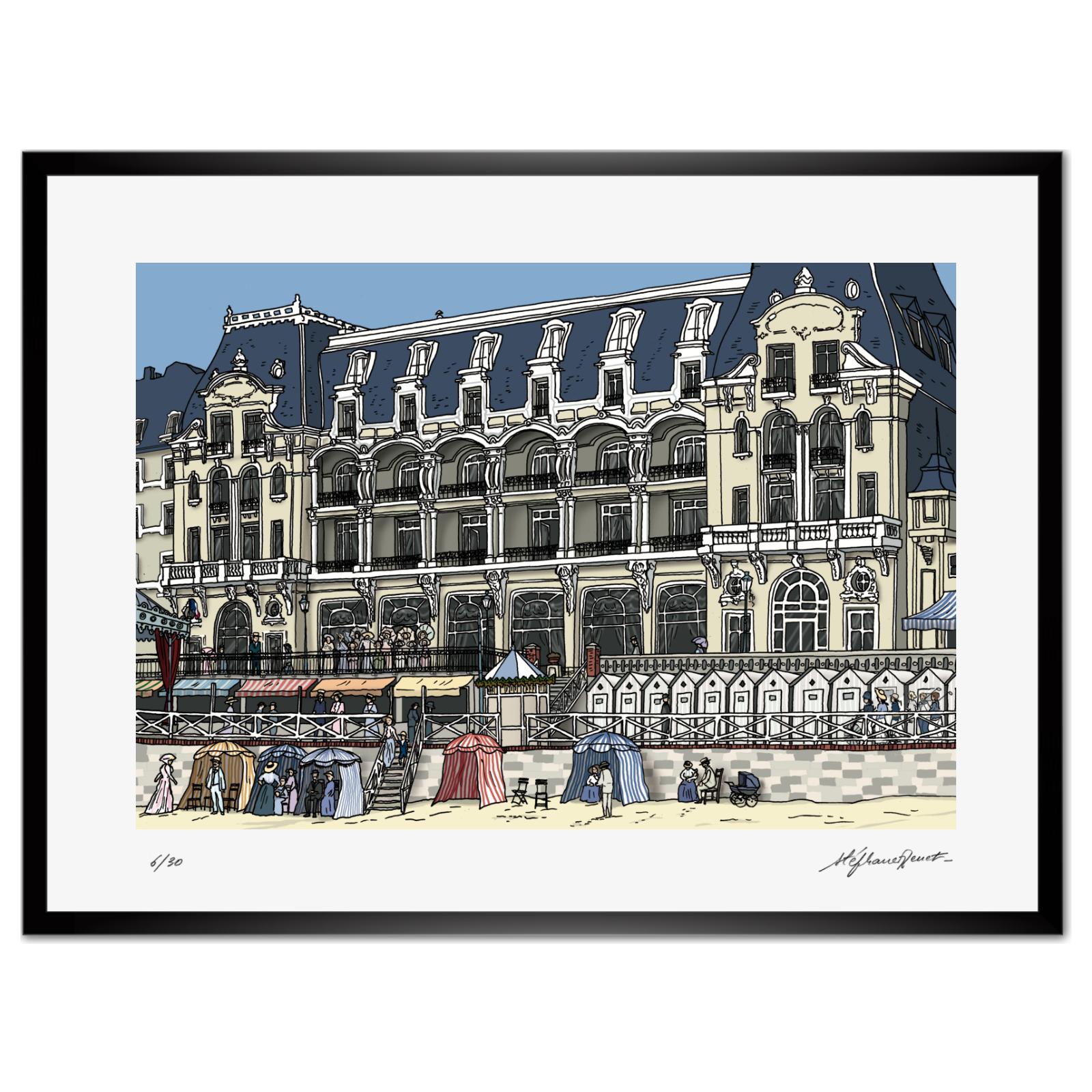 La façade du Grand-Hôtel de...