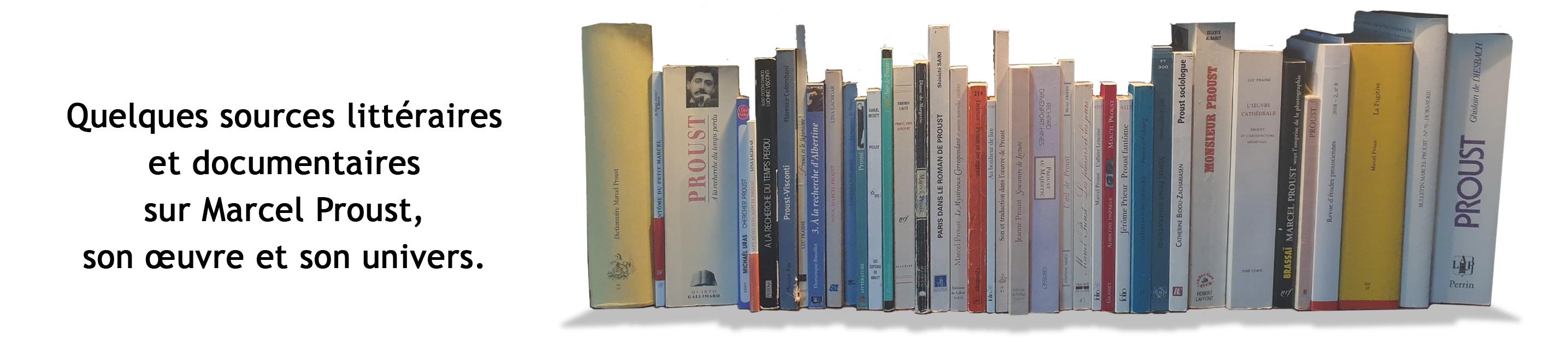 Le coin des livres. Sources littéraire sur marcel proust