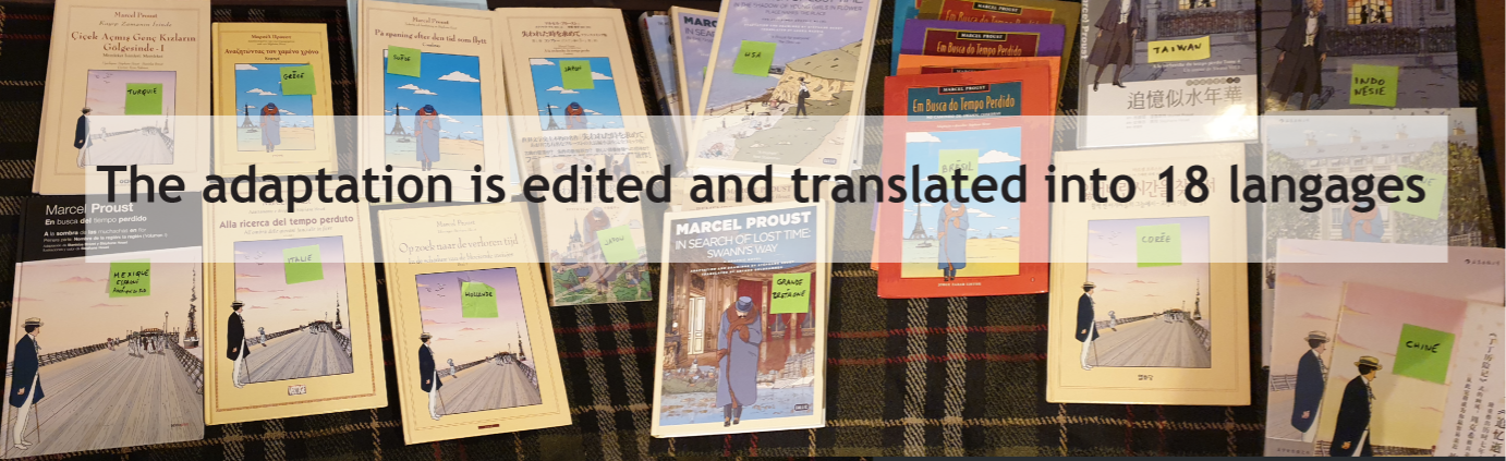 Foreign editions of the comic book adaptation of Search of Lost Time by Marcel Proust